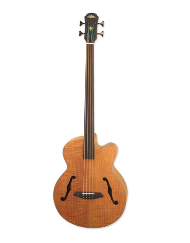 Aria Elecord FEB-FL/F N Flame Top Fretless Acoustic Bass