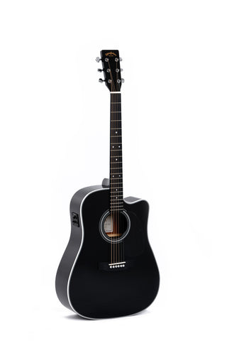 Sigma DMC-1STE-BK Dreadnought Cutaway Electric