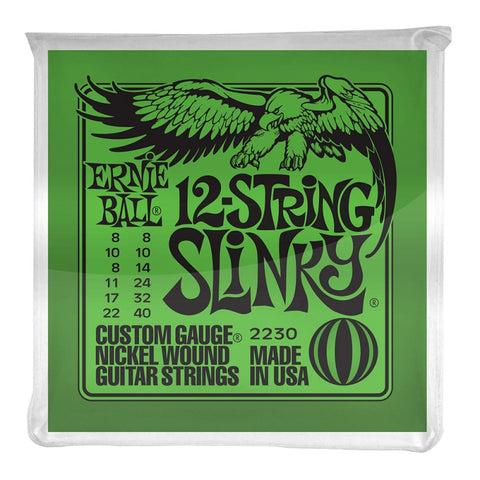 Ernie Ball 2230 12 String Slinky 8-40 Electric Guitar Strings Free Shipping At Cart