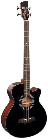 Brunswick TBABJ BK Black Top Acoustic Electric Bass