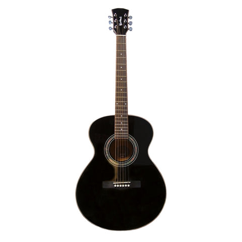 Woodstock Solid Top Black Folk Guitar WHW40301BK