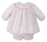 Sarah Louise Baby Girls Pink Rose Smocked Dress Preemie Newborn 3 6 9 Months Ruffle Bloomers