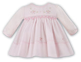 Sarah Louise Baby Girls Pink Floral Smocked Dress Preemie Newborn 3 6 9 12 18 Months