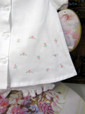 Will'beth White Girls Rosebud Button Front Diaper Set Newborn