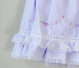 Will'beth Girls Lavender Purple Heirloom Lace 2pc Dress Bloomers 12 18 24 Months