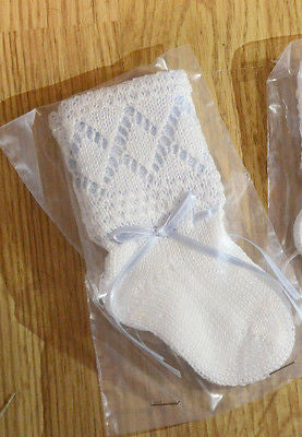 Will Beth Knit Ribbon Socks Baby Booties Newborn 0 3