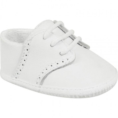 Baby Deer White Leather Saddle Oxford