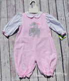 Petit Ami Girls Pink Elephant Bubble Romper 3 6 9 Months