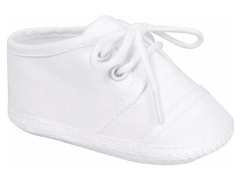 Baby Deer White Cotton Saddle Oxford Crib Shoes Boys Preemie Size 00 Micro Preemie