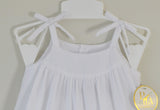 Petit Ami White Seersucker Beach Sun Dress and Bloomers 12 18 24 Months