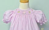 Petit Ami Girls Pink Smocked Birthday Party Bishop Dress 12 18 24 Months