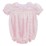 Feltman Brothers Girls Pink Rose Bubble Romper Newborn