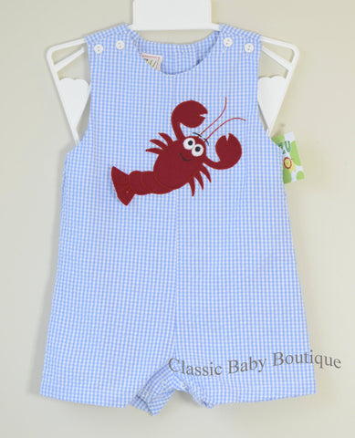 Petit Ami Boys Blue Lobster Beach Jon Jon Sunsuit 12 18 24 months
