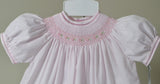 Freidknit Creations by Feltman Brothers Pink Smocked Bishop Dress 3 6 9 Months Girls Classic