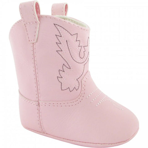 Baby Deer Pink Western Cowboy Boots Crib Shoes Girls Newborn Size 0