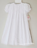Petit Ami Girls White Classic Batiste Lace Daygown Dress 3 Months