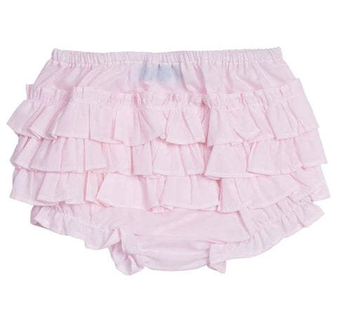 Feltman Brothers Soft Pink Ruffled Diaper Cover Bloomers Size 0 3 Newborn Baby Girls