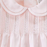 Petit Ami Girls Pink Pintuck Feather Stitch 3pc Dress 3 6 9 Months