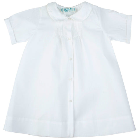 Feltman Bros Brothers Boys All White Heirloom Daygown Gown with Hand Pintucks Newborn
