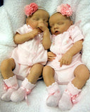 Will'beth Girls Pink Knit Ribbon Floral Diaper 4pc Set with Bonnet & Bloomers Newborn & Preemie