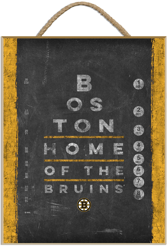 Bruins Eye Chart