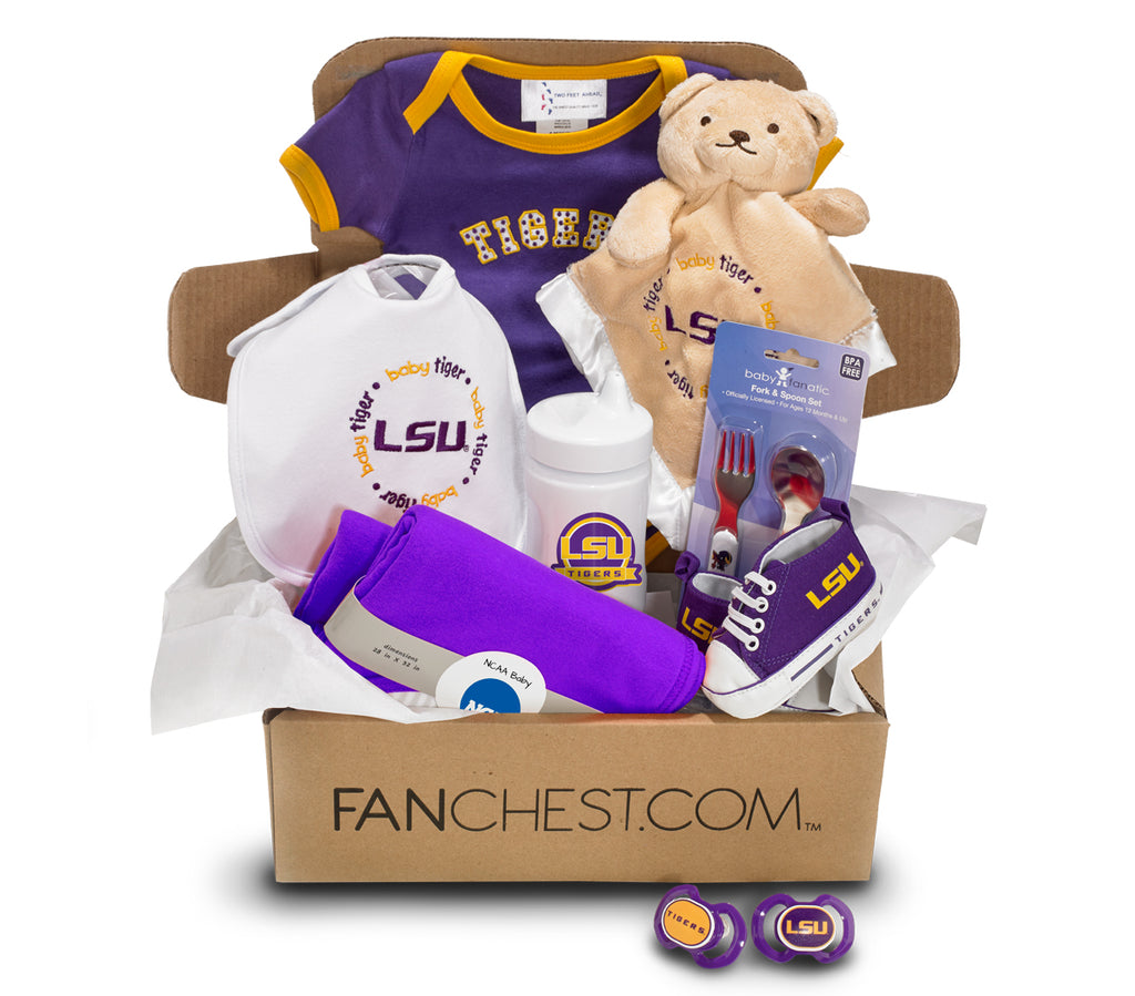 Lsu Tigers Baby Gift Box Lsu Infant Gear Fanchest
