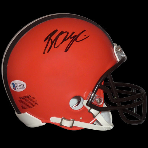 Browns Signed Mini Helmet
