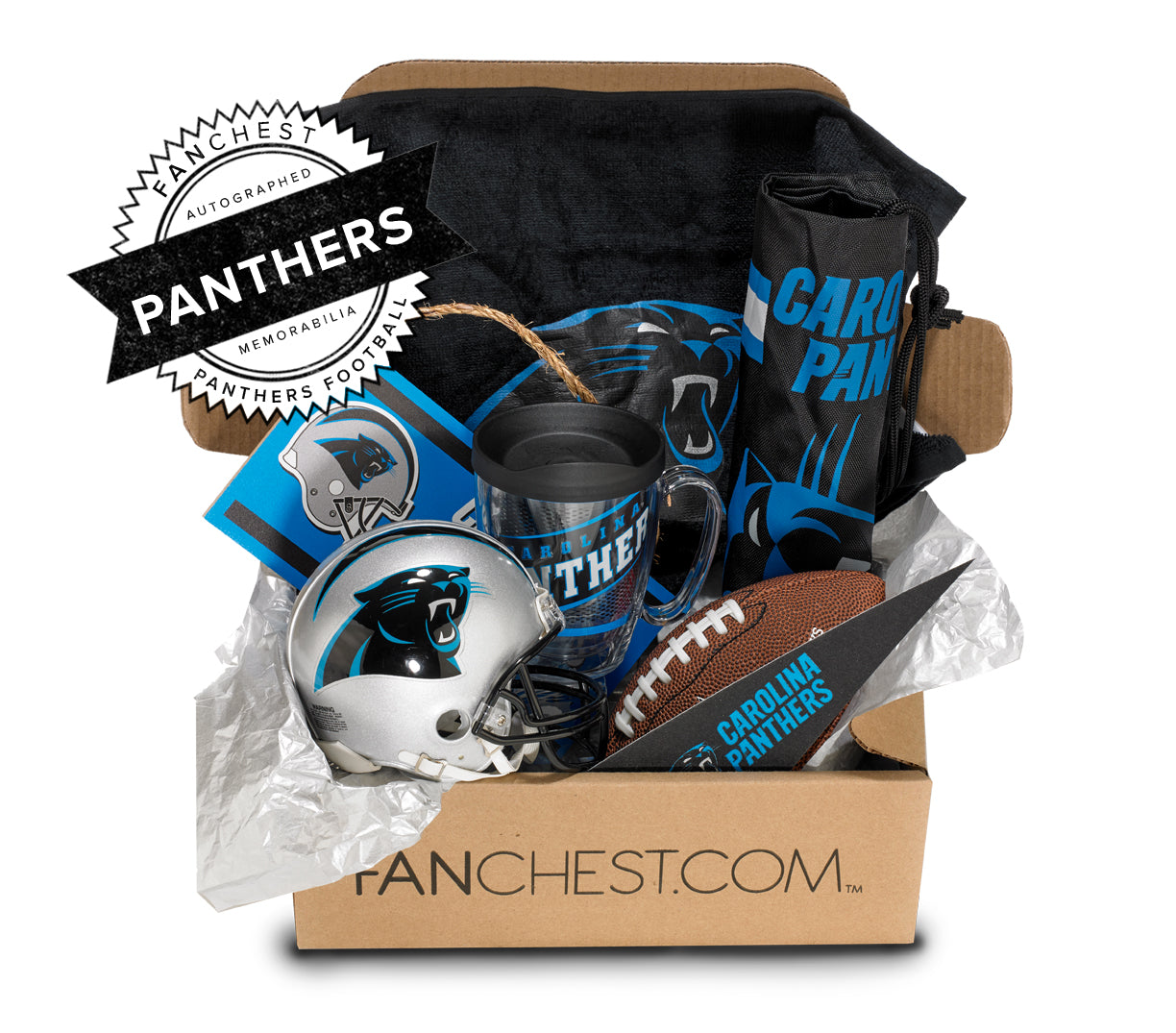 Panthers Memorabilia Gift Box Signed Mini Helmet Included