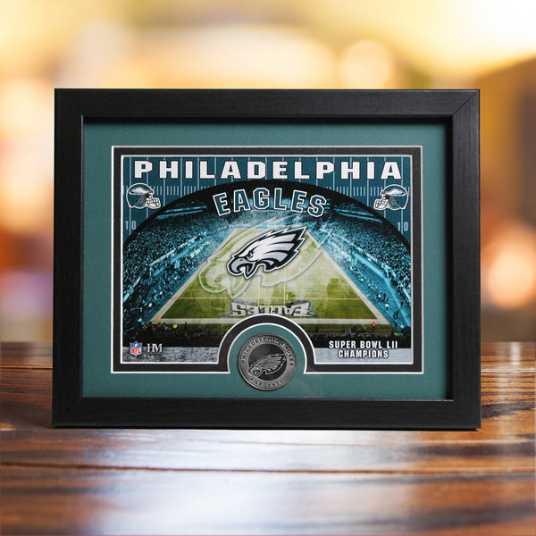 Eagles Framed Stadium Sign with Minted Coin