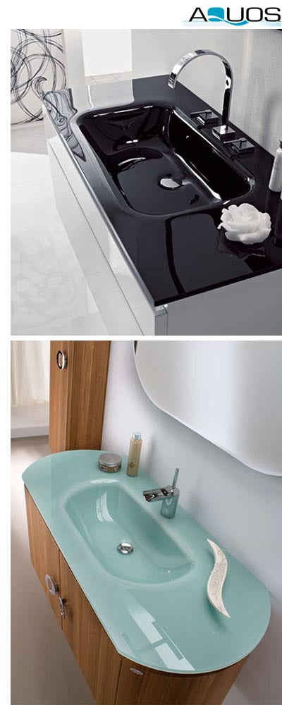 aquos modern designer vanities linen towers and integrated sinks