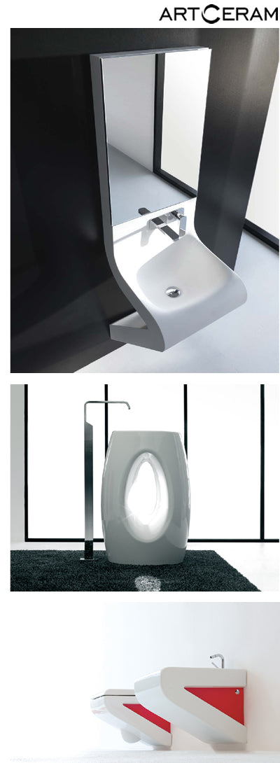 Artceram toilets, bath sinks