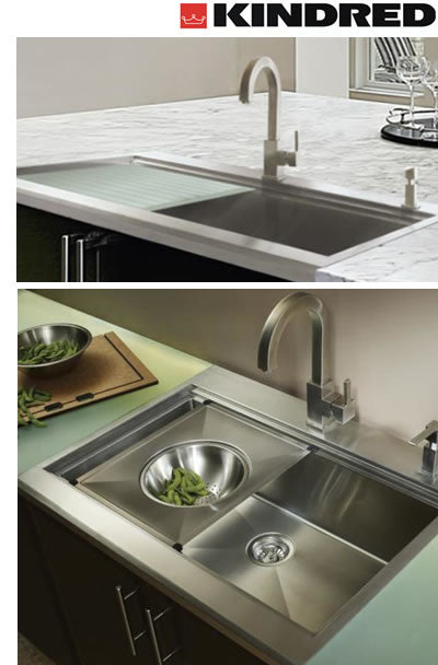kindred kitchen sink, modern kitchen sink