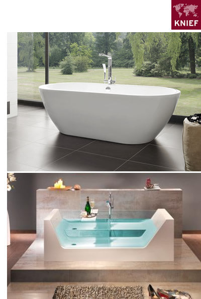 knief tubs: freestanding tubs, glass bathtubs, modern bathtubs