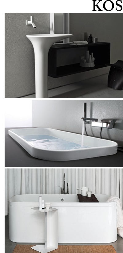 KOS sinks, vanities, bathtubs