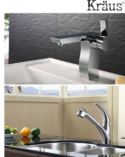 kraus faucets, kitchen sinks