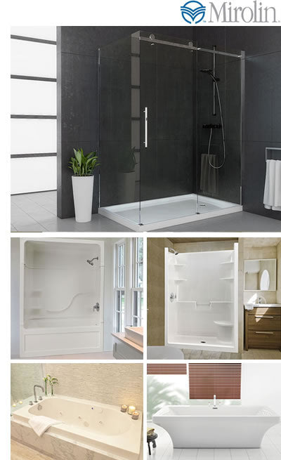 mirolin bathtubs, shower doors