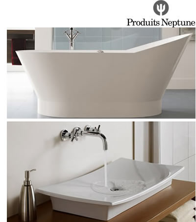 Neptune bathtubs, shower doors