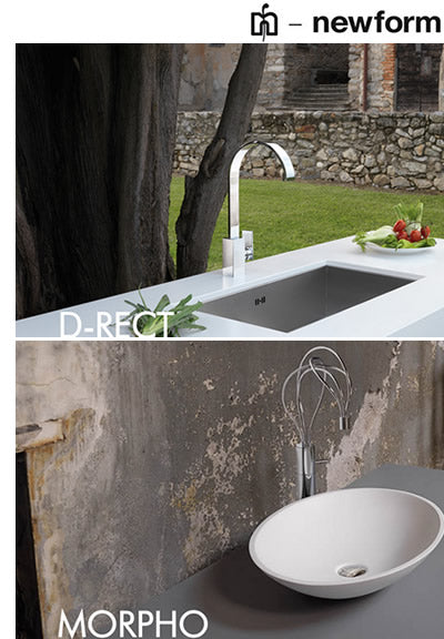 Newform Faucets for the Bathroom and Kitchen – Canaroma Bath & Tile