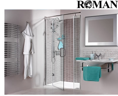 roman shower enclosures, shower enclosures