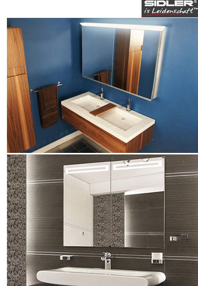 medicine cabinets, led bath mirrors
