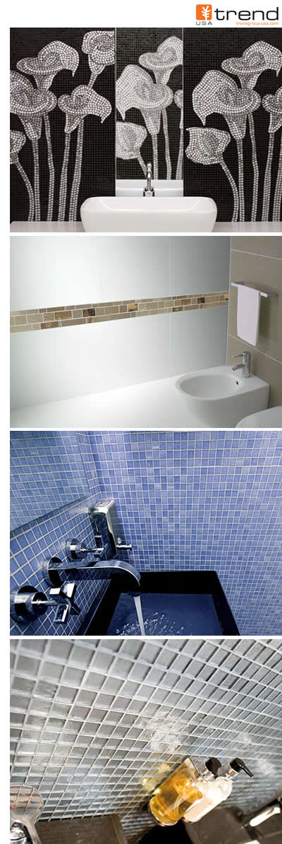 Trend mosaics, colored glass, engeneered surfaces (Trend Q