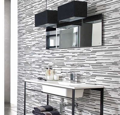 Mosaic strip tiles