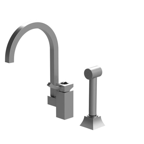 Rubinet Ice Single Control Kitchen Faucet with Hand Spray
