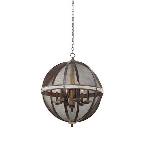Kalco 6 Light Chandelier Coronado