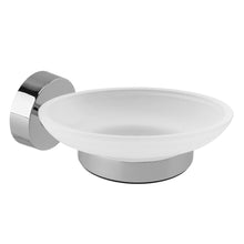 Frosted Glass Soap Dish & Holder