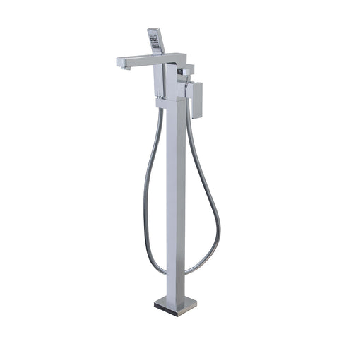 Aquabrass Tub Filler Madison Floormount with Hand Shower