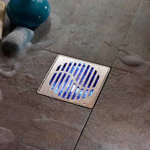 point shower drain