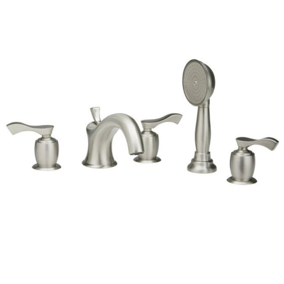 Phylrich Tub Filler Set with Hand Shower Amphora Lever Handle