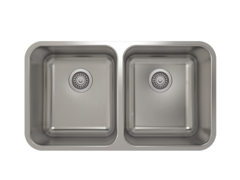 Julien Prochef Kitchen Sink ProInox E200 Double Bowl Undermount
