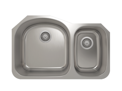 Julien Prochef Kitchen Sink ProInox E350 Double Bowl Undermount